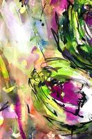 Abstract Arti 3 Watercolor & Ink By Ginette