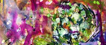 Abstract Arti 5 Watercolor & Ink By Ginette