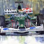 """Jaguar R3 Cosworth F1 2002 Eddie Irvine"" by shevchukart"