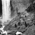 """Vernal Falls, Yosemite National Park, Black and Wh"" by jaredwcarter"