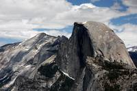 Close Up of Half Dome and Higher Peaks