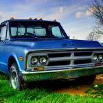 """Old Blue Truck"" by kentsphotocorner"