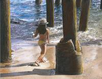 Little Jessica and Her Hat Malibu Pier