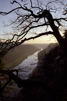 River Elbe, view from Bastei, Germany