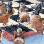 """Corgi chess"" by susanalisonart"
