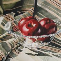 """Apples In Candlewick"" by carriewallerart"