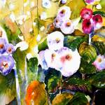 """Hollyhock Garden"" by martigreen"