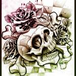 """Skull Diamond Green Purple"" by Willemxsm"