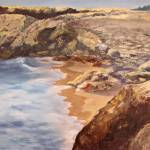 """Maine Seascape Oil on masonite - EBSQ"" by Art-by-HeatherM"