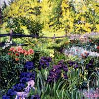 Purple Garden Art Prints & Posters by David Lloyd Glover