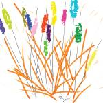 """Cheerful Cattails"" by oystudio"