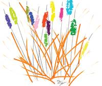 Cheerful Cattails