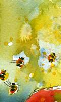 Apple Abstract #3 Bees by Ginette