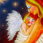 """Mother & Angel"" by night"