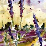 """Lavender & Bees Tall Format by Ginette"" by GinetteCallaway"