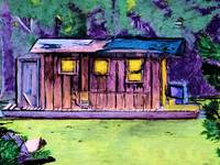 Cajun Cabin Water Color