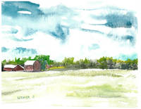 Red Barns Blue Skies