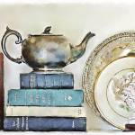 """Mother Goose And Other Books With A Teapot"" by JBentley"