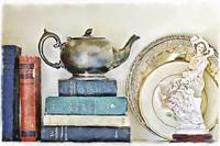 Mother Goose And Other Books With A Teapot