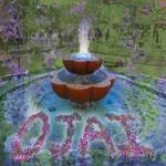 """Lavender Floating in a Fountain in Ojai"" by maryostudio"