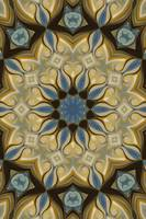 No. 61 - Blue Yellow Rosette Motif