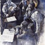 """Jazz Parker Tristano Bauer Safransky RCA studio NY"" by shevchukart"