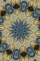 No. 55 - Blue Yellow Rosette Motif