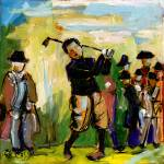 """Vintage Golf Oil Painting by Ginette"" by GinetteCallaway"