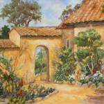 """Provence Vineyard Gate"" by BarbaraRedingStudios"