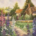 """Carmel Cottage Garden"" by BarbaraRedingStudios"