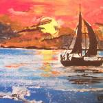 """sailing the sunset"" by louisedunning"