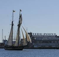 Schooner Pride Of Baltimore ll Sails Past Tide Poi