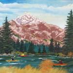 """Oregon Mountains"" by EMBlairArtwork"