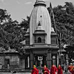 """Buddhist Monks at Pashupatinath Temple"" by TourismPicks"