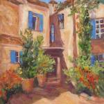 """Provence Orange Village"" by BarbaraRedingStudios"