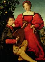 Venetian Lady and Lute Player