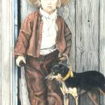 """Amish Boy with Dog"" by powellfineart"