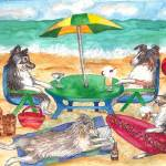 """Doggy Beach (c)2011 Lauren Curtis"" by LaurenCurtis"