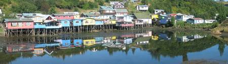 The Town of Castro on the Island of Chiloé, Chile