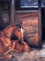 Miracle- A horse and Foal by Violano