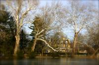 Yardley Pond Winter Scene