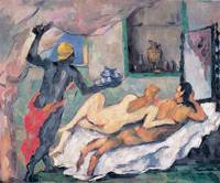 Afternoon in Naples by Paul Cezanne