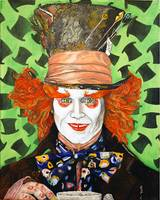 Johnny Depp as the Madd Hatter