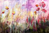 Wildflowers Bees and Butterflies Painting Ginette
