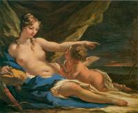 Venus and Cupid by Giovanni Antonio Pellegrini