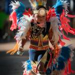 """Chumash native American teen dancing DSC9442"" by eyalna"