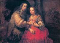 The Bridal Couple by Rembrandt van Rijn