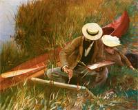 Paul Helleu Sketching with His Wife by Sargent