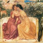 """Sappho and Erinna in a Garden at Mitylene"" by ArtLoversOnline"