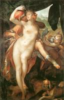 Venus and Adonis by Bartholomeus Spranger